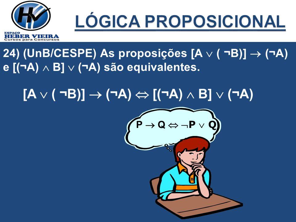LÓGICA PROPOSICIONAL [A  ( ¬B)]  (¬A)  [(¬A)  B]  (¬A)